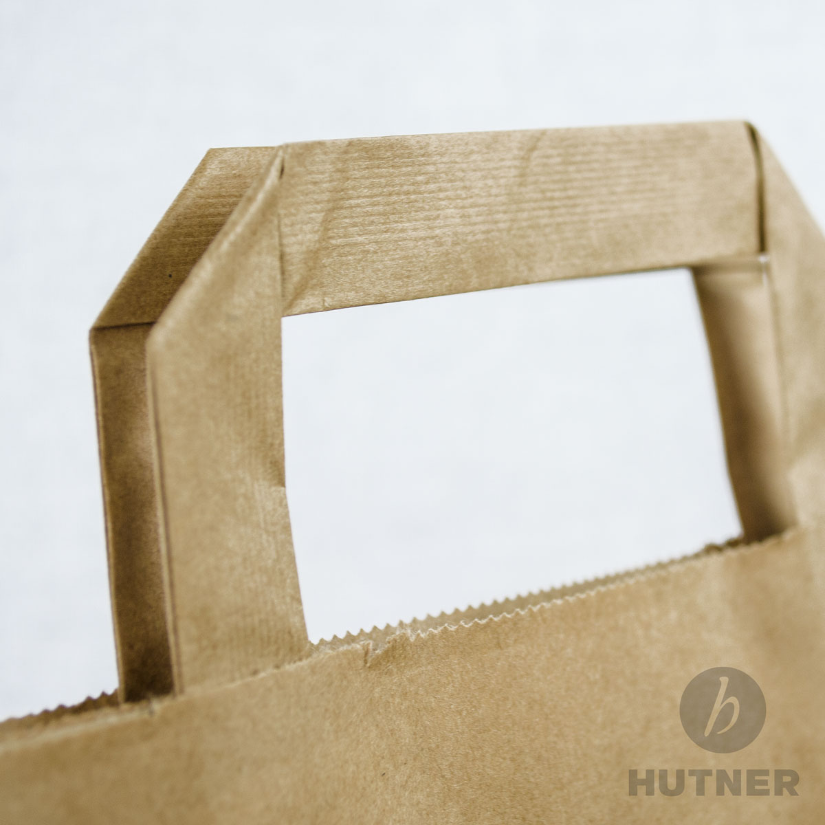 HUTNERPapiertaschen 26x12x35 cm Papiertüten braun mit Flachhenkel 250 Stück